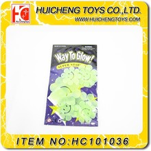 Funny non-toxic 7PCS luminous smile flowers glow in the dark party decoration house decoration