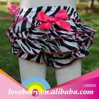 Hot pink satin zebra ruffle Bloomers