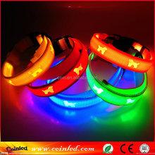 safety illumination reflective strips dog collar with led lights