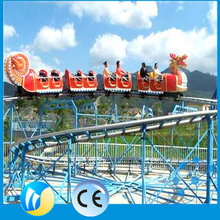 Cheap outdoor game rides park rides flying train roller coaster