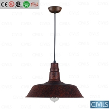 RH vintage barn pendant lamp, Rustic iron pendant lamp