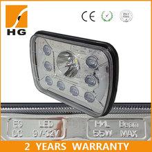 "Square led halo light 5*7"" harley headlight 55w Headlight for Motorcycle accessory light"