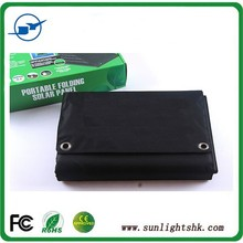 foldable 120w solar panel with fabric charger for camping