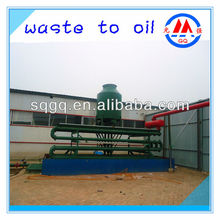 Used tyre or plastic or rubber to fuel oil recycling pyrolysis plant low price