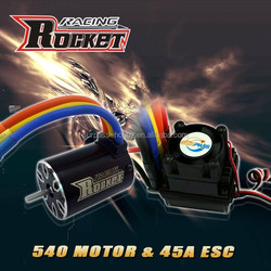 Rc car ESC 45A and motor IO 2.7A combo RC toy - 1/10th Scale 4wd Brushless Moto rPowered off-Road Buggy Booster-Pro