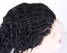 Hot selling human hair box braid wig for black women african braided wig box braid wig in stock