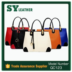 Wholesale bags designer brand large women bag pu leather handbags with pendant in guangzhou