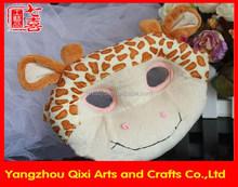 Wholesale halloween face mask giraffe mask plush toy animal mask