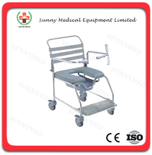 SY-R098 Hospital stainless commode wheel chair commode chair for elderly