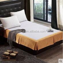 Oem para uso hotelero rey / reina / solo tamaño faldas de cama