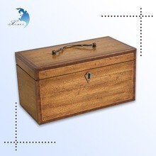 top brand clear window digital printing wooden decoration jewelry gift case