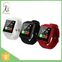 sports U8 smart super red wrist bluetooth wach for ios and android cellphones