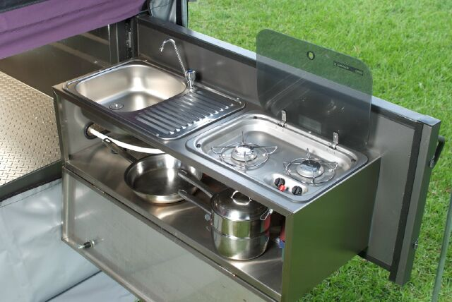 Camp Kitchens For Camper Trailers Folding off road camper trailer with campering tents and ...