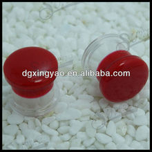 Clear Acrylic with Red resin glue ear plug tunnel