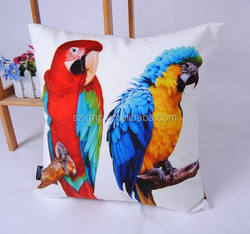 Double-sided printing animal pillow cases Custom Printing Fancy Pillow Cover Parrot Cushion Cover