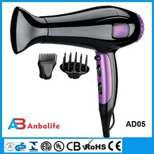 Hanging Hair Blower Dryer & Cord Styling Salon Professional Wall Mount
