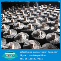 Trade Assurance Black adhesive and grey cloth duct tape for gas steel pipe