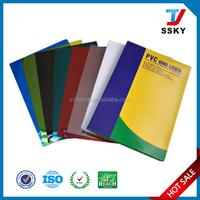 Transparent plastic pvc book cover