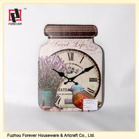 PU Leather cartoon pattern decoration wall Desk Clock