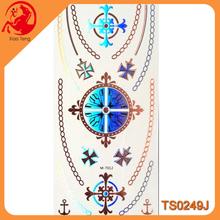 Bracelets Jewelry Inspired Metallic Tattoo Stickers,Silver Gold Laser Stickers,Flash Metallic Tattoos