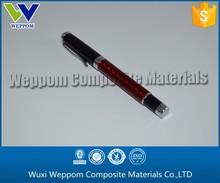 Black & Red & Silvery Carbon Fiber Metal Gel Pen For Sale