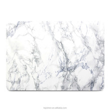 For Macbook Pro 13 Case,Hard Case Print Frosted for MacBook Pro 13, White Marble Pattern Rubber Coated Hard Shell Case Cover
