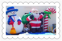 CILE 2015 New style Inflatable Christmas Farther and snowman
