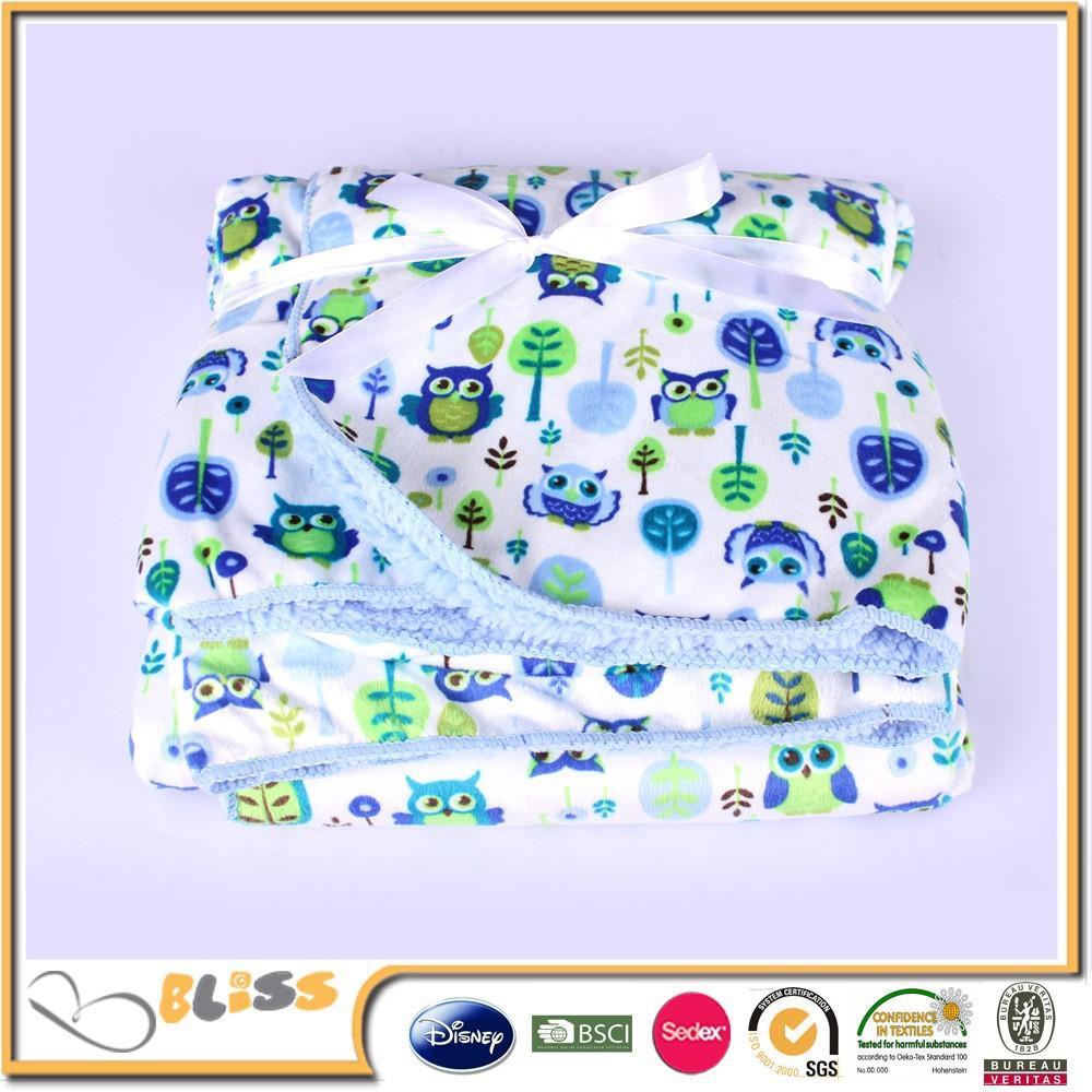 Comprar direto da china factory e de alta qualidade micro plush & sherpa blanket