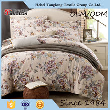 dark color flower printed bedding set bedroom set european queen bedding set
