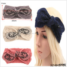 2015 knitting new flash bow headband