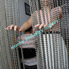 Hanging 10mm gunmetal bead curtain room divider for hotel