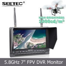 DVR FPV monitor 2200mah li battery China manufacturer CE FCC approvedcontrolled toy with 7inch sunlight readable monitor