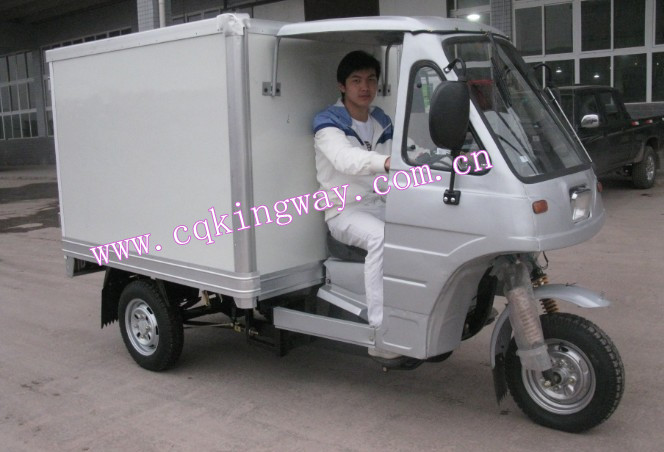 Chongqing Manufacturer Enclosed Aadult Pedal Tricycle 250cc Water/Air Cooling Motor Adult Cargo Tricycle For Sale