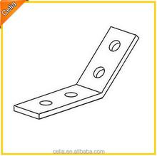 zinc plated, galvanized/galvanised or powder coated 45 angle bracket