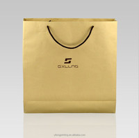2015 new style shopping kraft paper bag