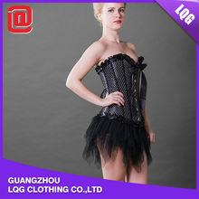 Lady black back pain corset