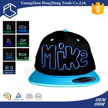 China wholesale LED man summer snap back hat trucker cap