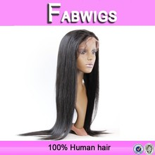 Fabwigs 7a grade silky straight wholesale cheap virgin peruvian human hair full lace wig