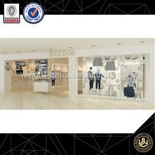 ropa estante de exhibición de la tienda ropa de diseño de la decoración de la ropa de mesa de exhibición