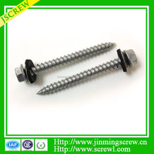 High Quality hex head flange screw with washer attached