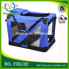 Deluxe Soft Crate with Bag for Pets Blue Pet Carrier Dog Bag