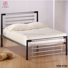 2015 hot sale latest double bed designs, home furniture type metal double bed
