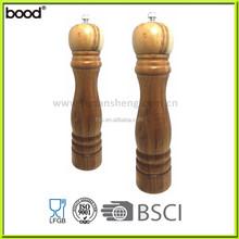 manual wooden salt and pepper/manual pepper mill/acasia wood salt grinder
