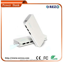 Portable LCD 12000mah Three USB Shenzhen Mobile Power Supply , Laptop Mobile Power Bank