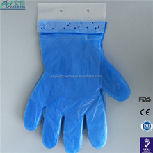 Disposable product Disposable Clear Plastic glove with standard length with high quality disposable pe glove gloves with nails