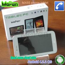 6.5'' dual core dual sim phone tablet, mobile phone dual sim card
