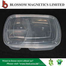 Transparent Plastic 3 Compartment BPA free Food containers