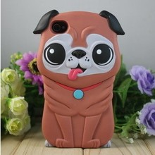 dog animal silicone phone case for iphone 4