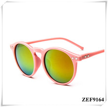 The five-pointed star round sunglasses Europe and the bright reflective sunglasses fashion sunglasses