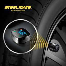 2015 Steelmate TP-76B car led Wireless DIY tpms order 1,tyre valve gauge 20, dollar shop